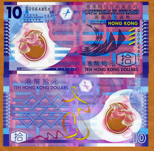 Hong Kong, $10, 1-1-2012, Polymer, Pick 401c, UNC