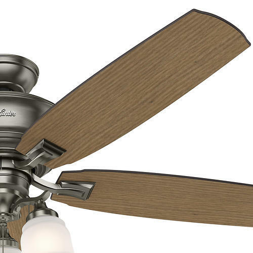 """58/"""" Antique Pewter 3 LED Ceiling Fan with Light Kit Reversible Blades"""
