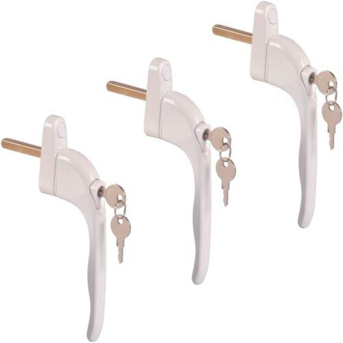 3x abschließbarer Poignée de fenêtre Poignée de porte sécurité enfant fenêtre-poignées clés