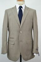 Men's Beige Sharkskin 2 Button Slim-fit Suit W/ Ticket Pocket Size 48l