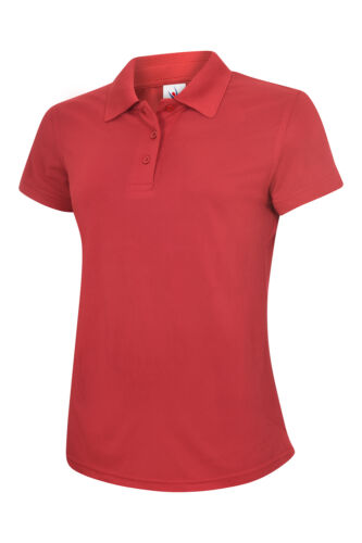 Uneek Ladies Super Cool Workwear Poloshirt 100/% Polyester Pique Wicking Polo TOP