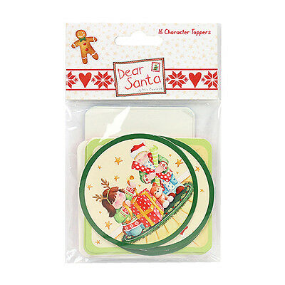 DEAR SANTA BY HELZ CUPPLEDITCH WOODEN BUTTONS EMBELLISHMENTS FOR CARDS//CRAFTS