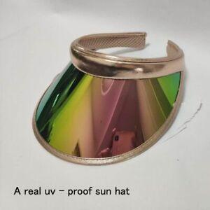 Men-Sun-Hat-Candy-Color-Transparent-Empty-Top-Plastic-PVC-Visor-Bicycle-Caps
