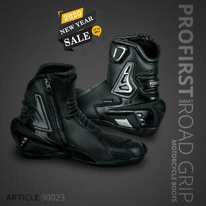 Motorcycle-Armored-Leather-Boot-Waterproof-Short-Ankle-Motorbike-Racing-Shoes
