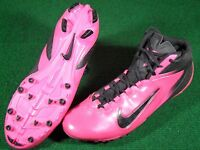 Used Nike Alpha Speed TD Football Cleats Black Pink size 13 Komen Great Shape