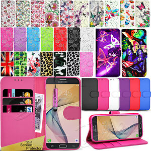 quality design ded61 4a8f2 Details about For Samsung Galaxy J7 PRIME -Wallet Leather Case Flip Cover +  Screen Protector