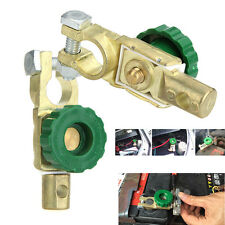 2X Battery Link Terminal Quick Cut-off Disconnect Master Kill Shut Switch Green