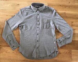 Pique Med Oliver Orlebar Long Brown Shirt Buttoned Mens Sleeved Tailored Grey wxZCAgtqZ