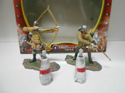 FORCES OF VALOR KNIGHTS OF THE 100 YEARS WAR 2-FIGURAS #22303 UNIMAX 1:32