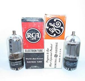 2 NIB 12DQ6A amplifier tubes. RCA & GE. TV-7 test super strong.