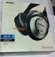 Bose QuietComfort 15 Over the Head Cable Headphones - Black/Silver