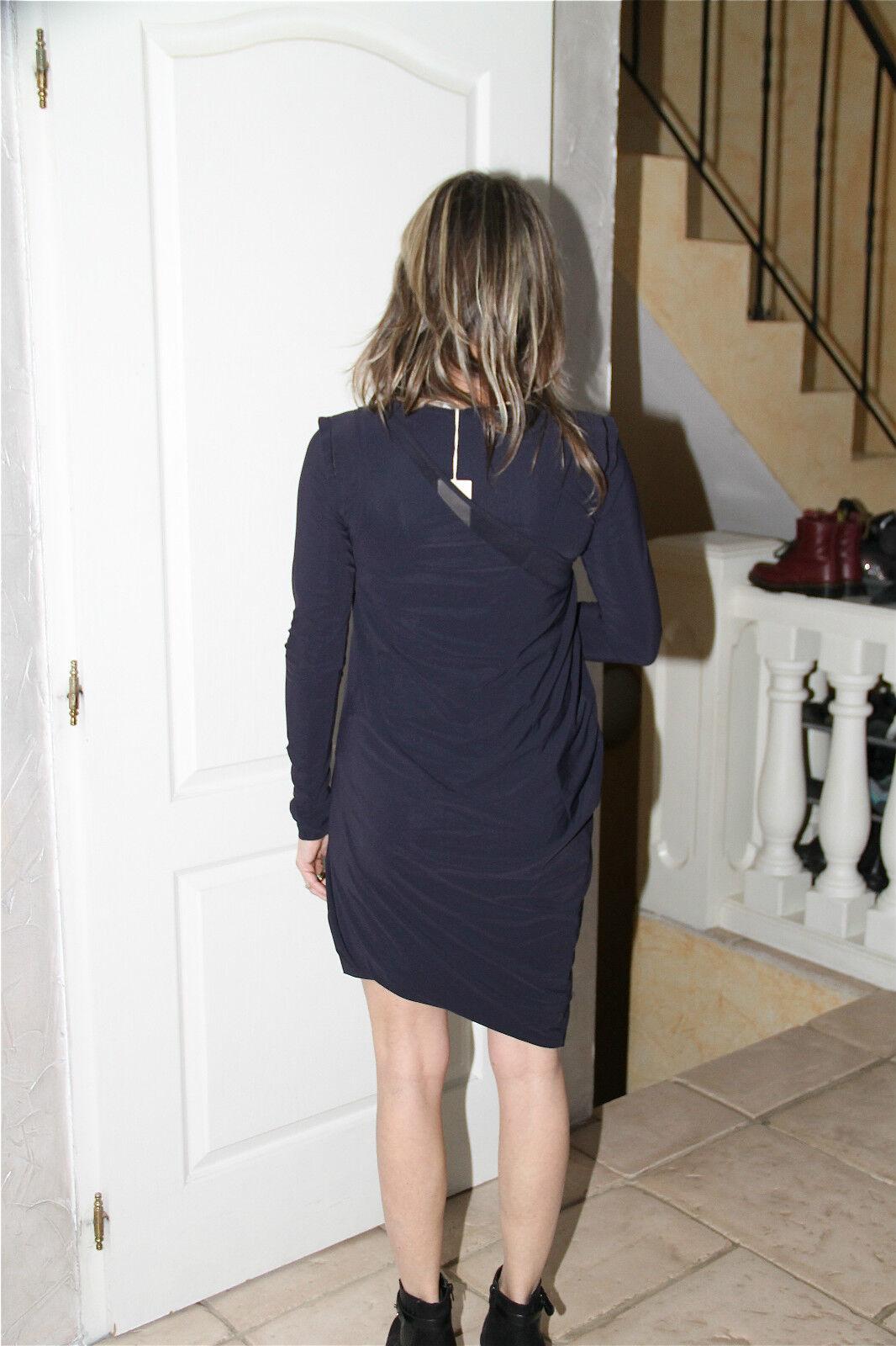 Dress robe blacke superposée M M M FRANCOIS GIRBAUD wrapperess T 40   NEUVE ÉTIQUETTE 9c25e9