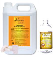 Solución de limpieza de magia Amarillo 5ltr + Botella Mezcladora Con Boquilla De Nuevo