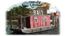 """0762 Bait Barge at """"Cundy Harbor"""" Kit HO Bar Mills - Laser-Cut Wood Structure"""