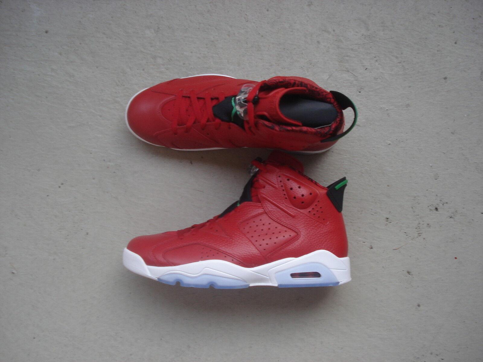 "Nike Air Jordan 6/VI Retro 43 ""Spizike"" Varsity Red/Classic Green-noir-blanc"