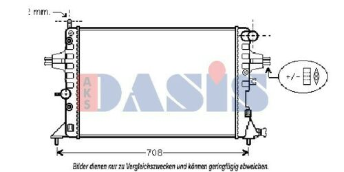 für OPEL ASTRA G ZAFIRA A Kühler 151640N AKS DasisMotorkühler Motorkühlung