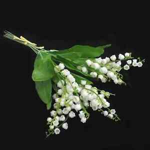 Quality artificial spring flowers lily of the valley bunch 6 stems image is loading quality artificial spring flowers lily of the valley mightylinksfo
