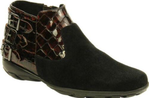 on Booties Size 6.5 Details about  /VANELi Artemis Black Suede Brown Coryl Pull