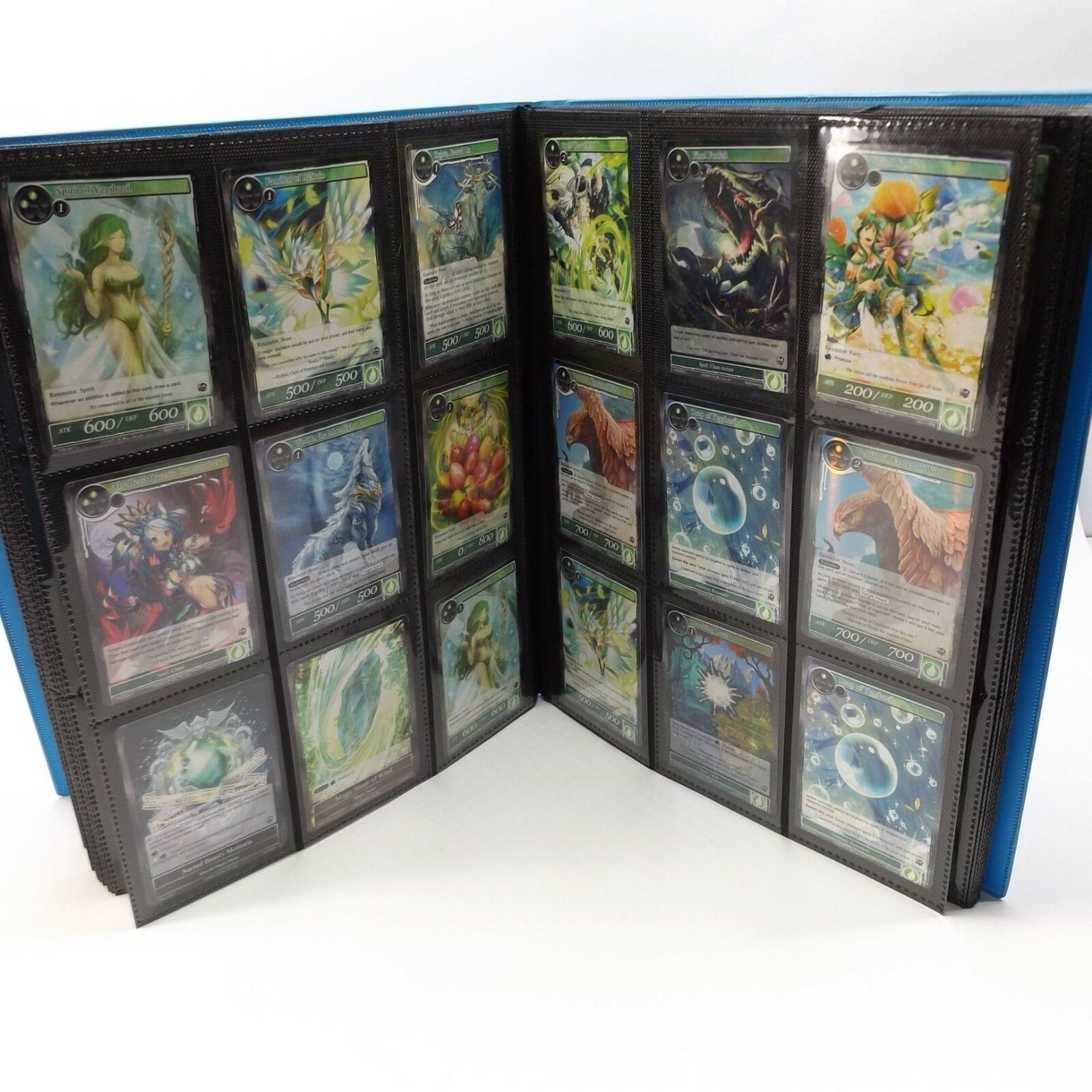 BOOK OF 288 PLUS PLUS PLUS FORCE OF WILL GAME CARDS IN PredECTIVE SLEEVES 3752ee