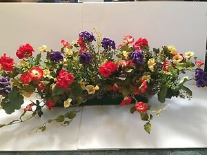 Colorful red yellow purple window box silk flower arrangement 18 image is loading colorful red yellow purple window box silk flower mightylinksfo