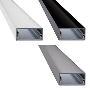 Design tv alu kabelkanal in aluminium wei schwarz silber modell big square ebay - Kabelabdeckung wand tv ...
