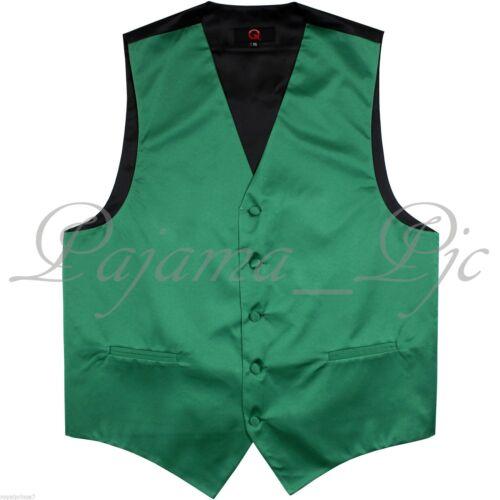 Emerald Green New Men Solid Classic Formal Tuxedo Suit Vest Waistcoat Wedding