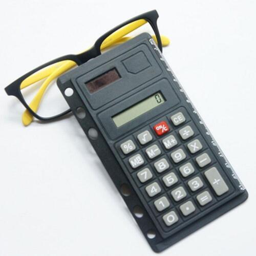 Solar Lineal Taschenrechner Abheftbar Schule Büro Skala Universal Lochung 1x