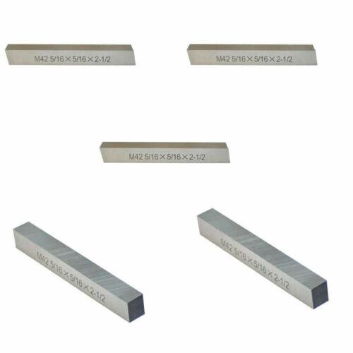 5//16/'/' x 5//16/'/' x 2-1//2/'/' M42 HSS Square Tool Bit Lathe Fly Cutter Mill 5 Pc