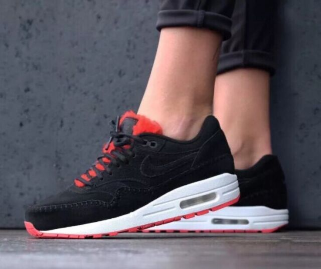 on sale d9907 cc37a ... where can i buy nike air max 1 prm sherpa pack bred women 9.5 black red  ...