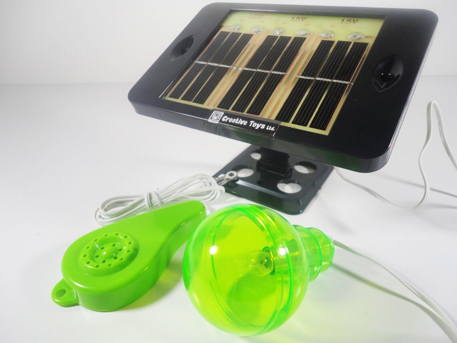 Crear un sistema de energía solar activo Juguete Kit Ciencia Solar Juego De Física Ciencia