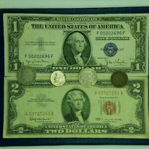 Starter-Collection-2-Red-Seal-1-Silver-Certificate-and-much-more