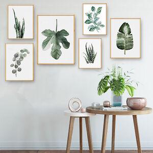 tropical plants leaves canvas vintage poster wall art prints moderndetails about tropical plants leaves canvas vintage poster wall art prints modern home decor