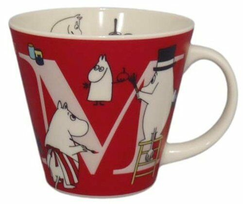 YamaKa store Moomin initial mug M MM630-11M from Japan New