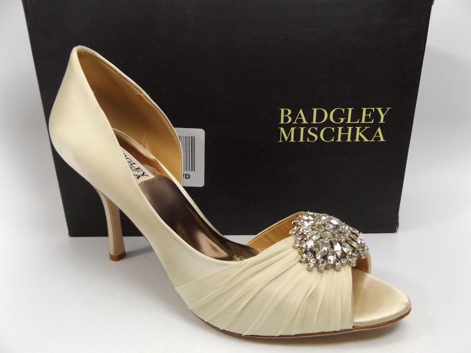 Badgley Mischka Femme Pearson Peep Toe D-Orsay Escarpins Van Satin Taille 10.0 m D7849