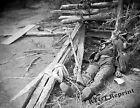 Photograph  Vintage Civil War Fallen Confederate Soldier 1864 8x10