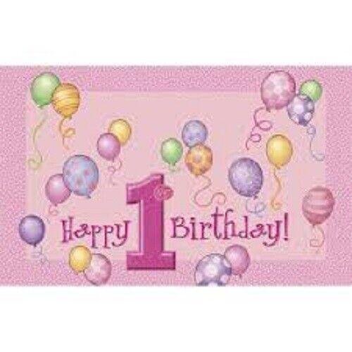1st Birthday Girl Pink Decoration high chair kit FIRST BIRTHDAY