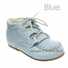 -8 EU25 Baby Boys/& Boys Spanish Faux Suede Patent Lace Up Shoes UK Size 2 EU18