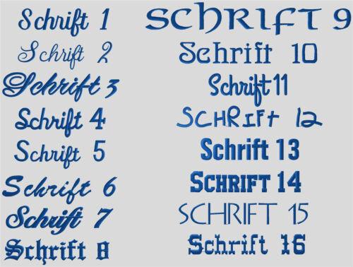Serviette Duschtuch Serviette Sauna 50 x 100 cm avec nom Stick au choix