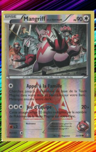 Carte Pokemon Neuve Française 22//34 XY- : Double Danger Mangriff Reverse