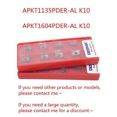 10Pcs DESKAR APKT1604PDER-AL K10 APKT1604 Carbide inserts For Copper Aluminum