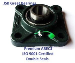 """5//8/"""" Mounted Balls UCF202-10+Square Flanged Bearings"""