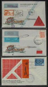 s1241-Raketenpost-Jugoslawien-3-seltene-Belege-1961-1965-Letelo-Z-Raketo