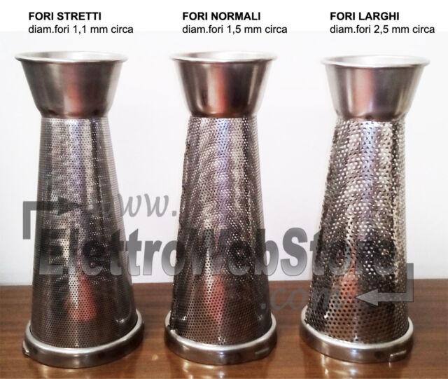 5 fori standard 1,5mm passapomodoro spremipomodoro Reber cono filtro inox n