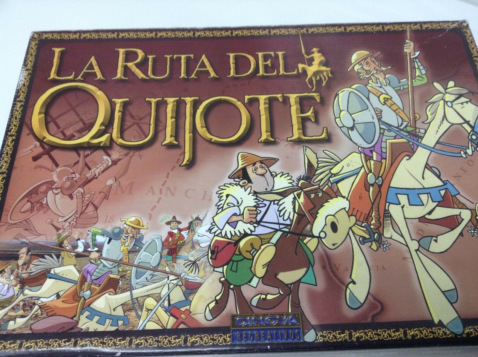 JUEGO DE MESA LA RUTA DEL QUIJOTE . DINOVA RECREATIVOS