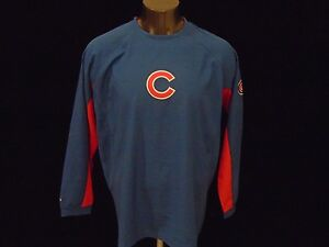 CHICAGO CUBS NEW MLB MAJESTIC LOGO LONG SLEEVE SHIRT