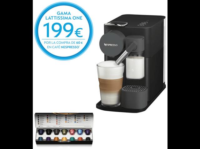 Nespresso De'longhi Lattissima One En500b cafetera monodosis con deposito leche