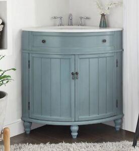 24 Benton Collection Thomasville Slim Corner Bathroom Sink Vanity Gd 47544bu Ebay