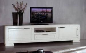 Mobile Porta Tv Plasma.Mobile Porta Tv Plasma In Massello Di Rovere Lacc Biancox Sala