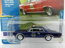 2017 Johnny Lightning *CLASSIC GOLD 1B* BLUE 1965 Pontic GTO Police Car *NIP*