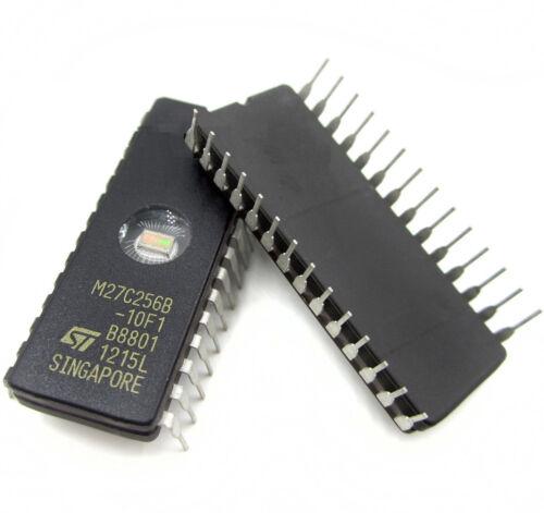 EPROM 27C256-100 32Kx8 100ns M27C256B-10F1 CMOS from STM DIC28 B2AD